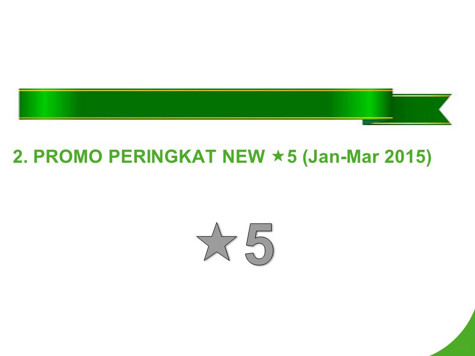 2. PROMO PERINGKAT NEW  5 (Jan-Mar 2015)