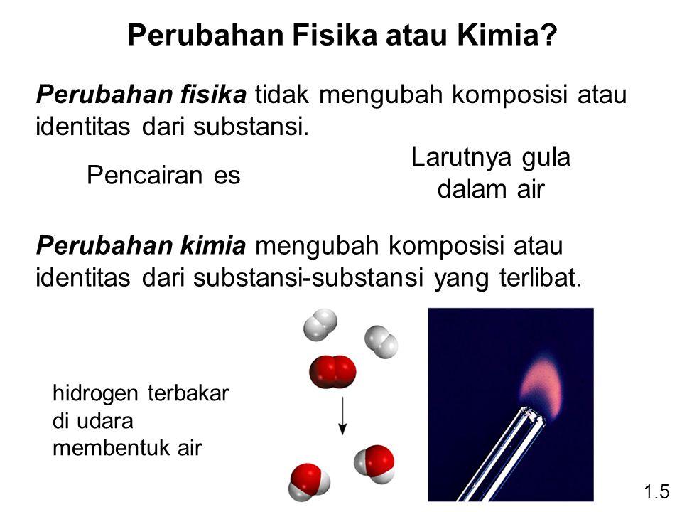 Perubahan Fisika atau Kimia.