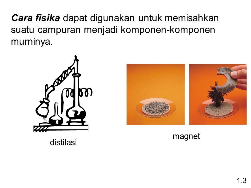 Cara fisika dapat digunakan untuk memisahkan suatu campuran menjadi komponen-komponen murninya.