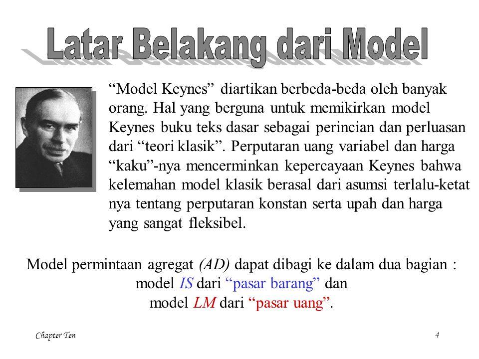 """4 """"Model Keynes"""" diartikan berbeda-beda oleh banyak orang. Hal yang berguna untuk memikirkan model Keynes buku teks dasar sebagai perincian dan perlua"""