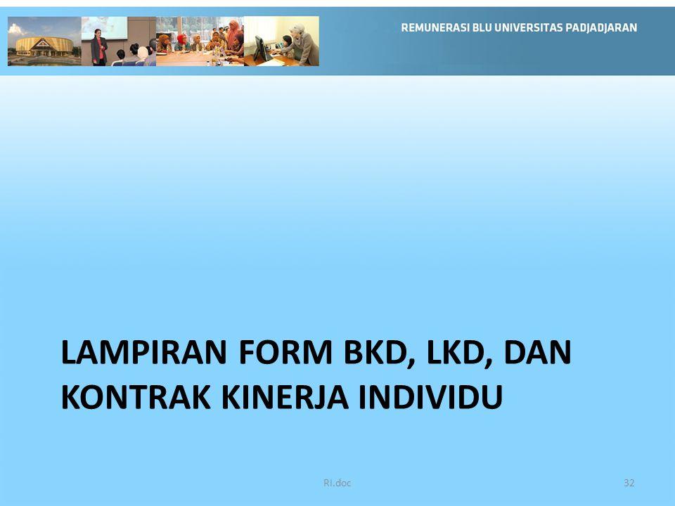 LAMPIRAN FORM BKD, LKD, DAN KONTRAK KINERJA INDIVIDU RI.doc32