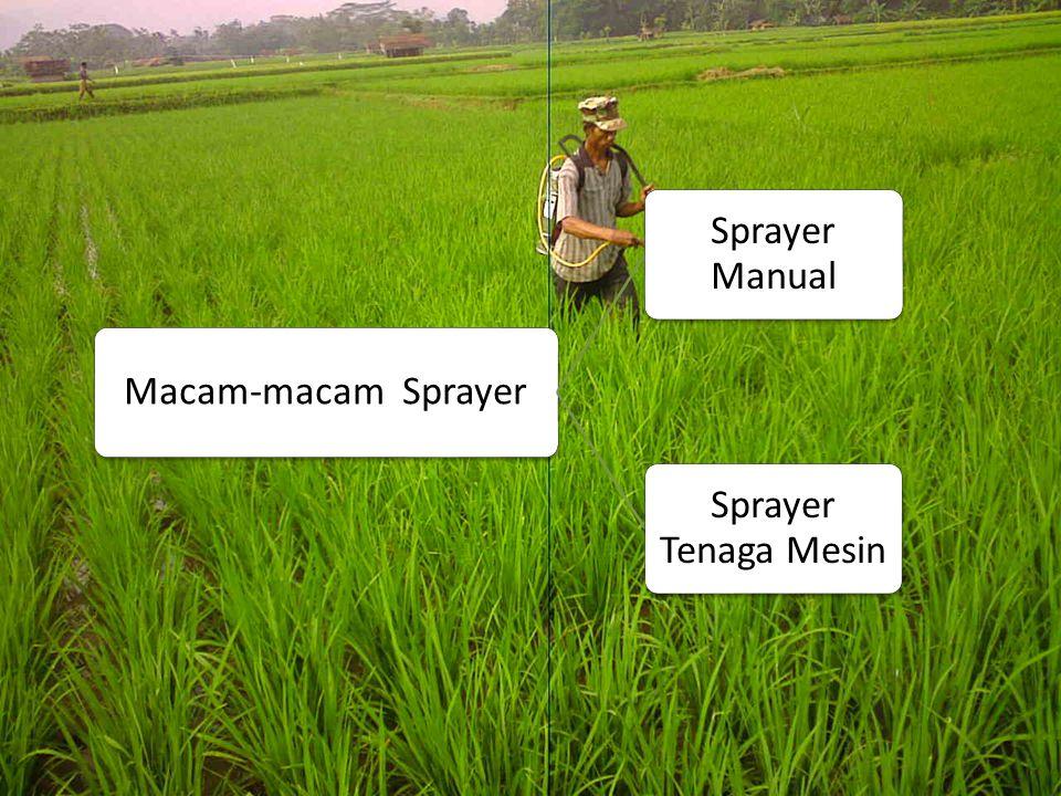 Alat Semprot Pestisida Semua alat yang digunakan untuk mengaplkasikan pestisida dengan cara penyemprotan disebut alat semprot atau sprayer.