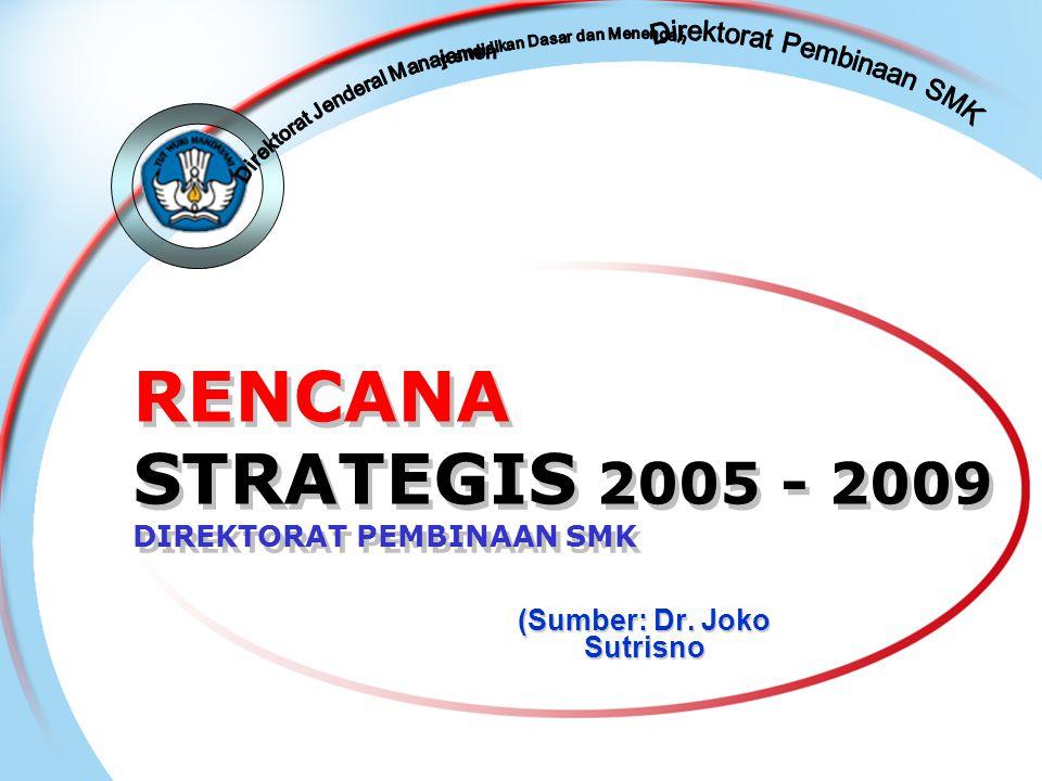 RENCANA STRATEGIS 2005 - 2009 DIREKTORAT PEMBINAAN SMK (Sumber: Dr. Joko Sutrisno