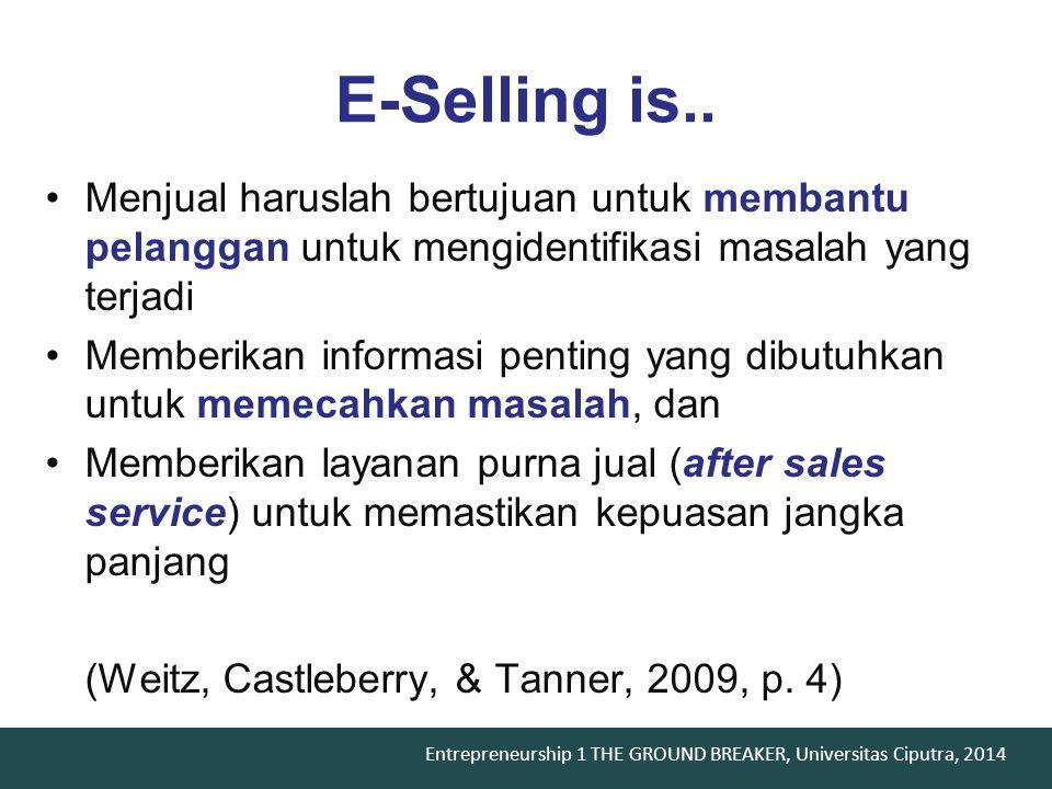 Entrepreneurship 1 THE GROUND BREAKER, Universitas Ciputra, 2014 What to sell ?