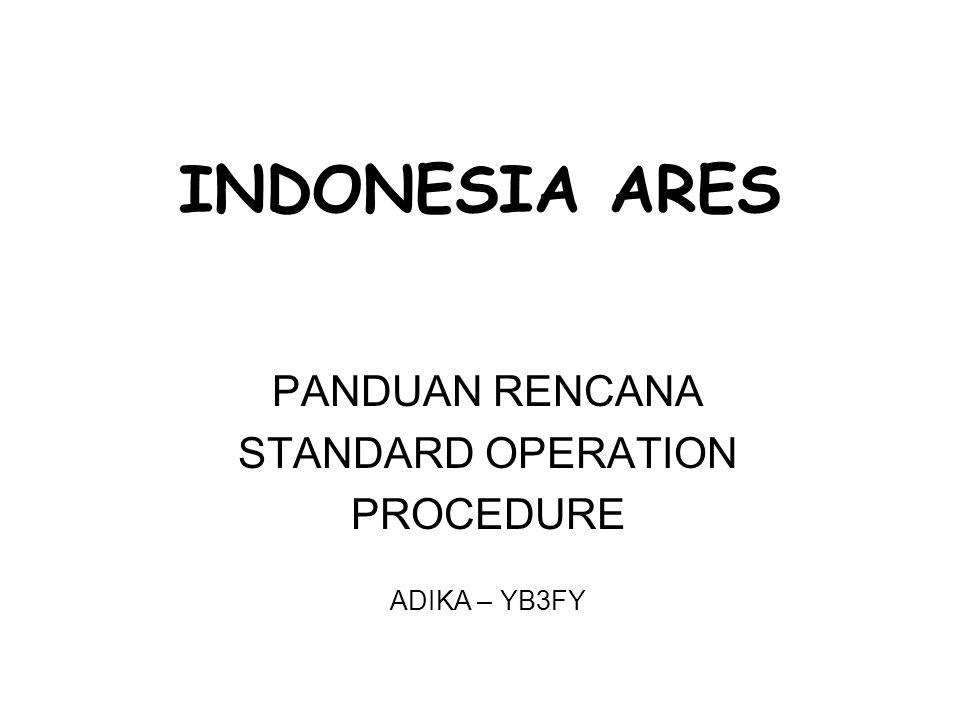 INDONESIA ARES PANDUAN RENCANA STANDARD OPERATION PROCEDURE ADIKA – YB3FY