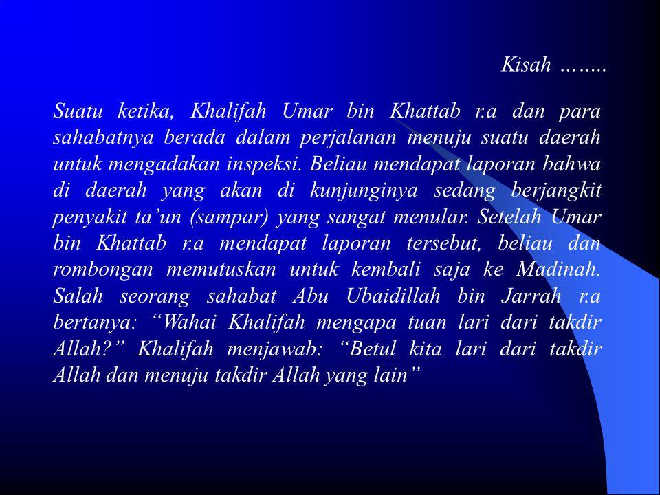 Kisah …….. Suatu ketika, Khalifah Umar bin Khattab r.a dan para sahabatnya berada dalam perjalanan menuju suatu daerah untuk mengadakan inspeksi. Beli