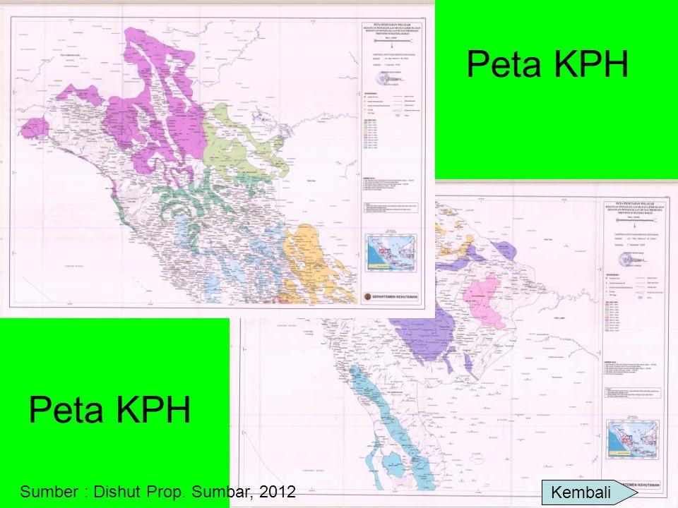 Peta KPH Kembali Sumber : Dishut Prop. Sumbar, 2012