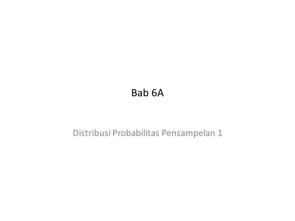 Bab 6A Distribusi Probabilitas Pensampelan 1