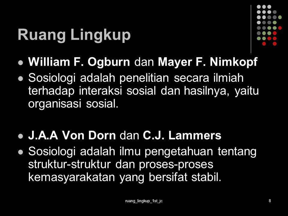 ruang_lingkup_1st_jc9 Ruang Lingkup Beberapa Definisi Max Weber Sosiologi adalah ilmu yang berupaya memahami tindakan-tindakan sosial.