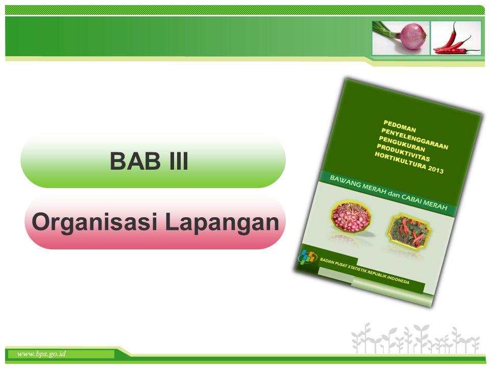 www.themegallery.com www.bps.go.id BAB III Organisasi Lapangan