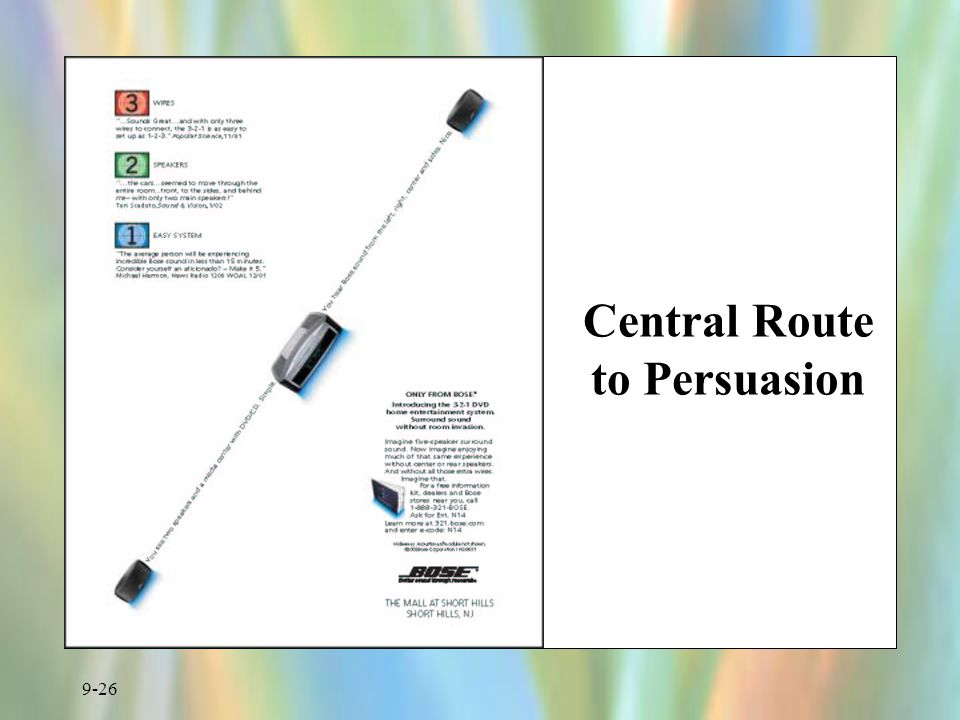 9-26 Central Route to Persuasion