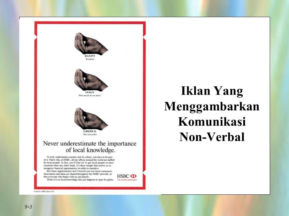 9-3 Iklan Yang Menggambarkan Komunikasi Non-Verbal