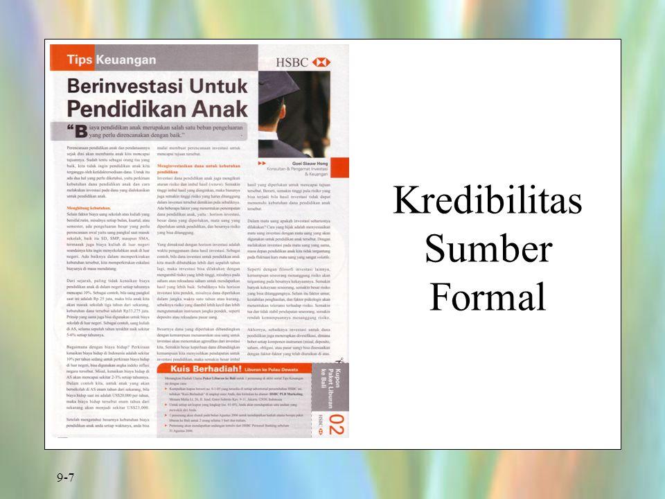 9-7 Kredibilitas Sumber Formal