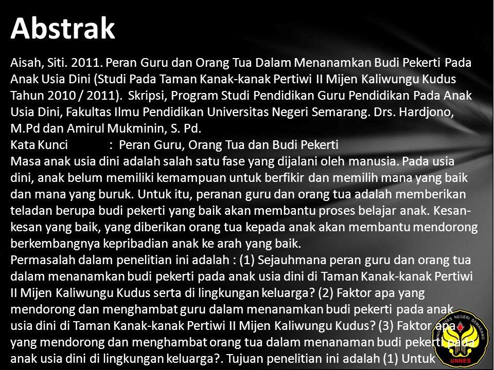 Abstrak Aisah, Siti.2011.