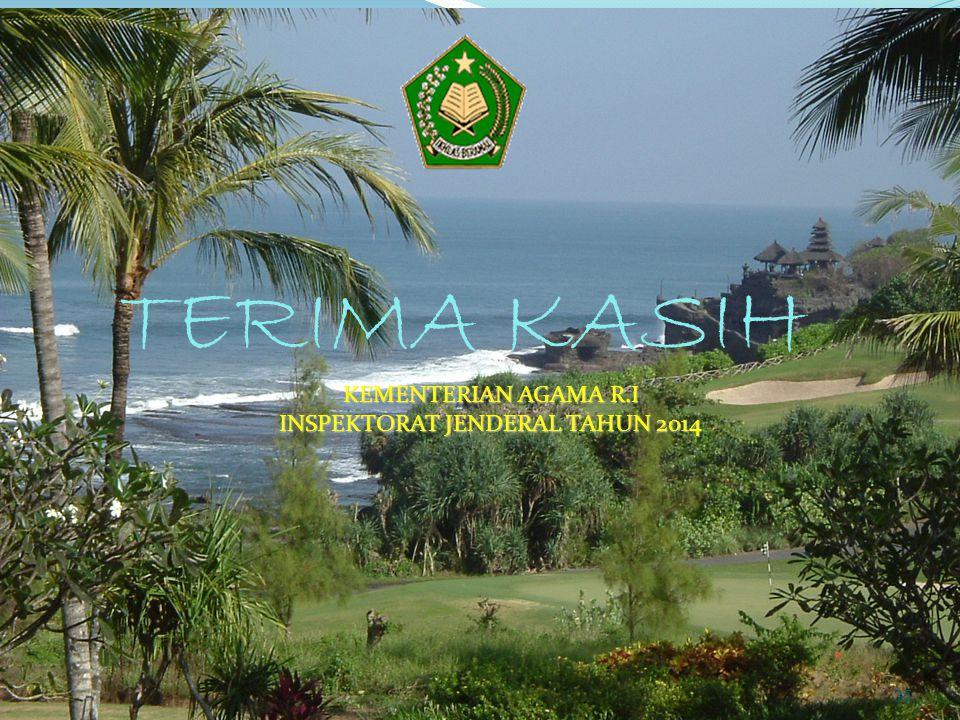 TERIMA KASIH KEMENTERIAN AGAMA R.I INSPEKTORAT JENDERAL TAHUN 2014 35
