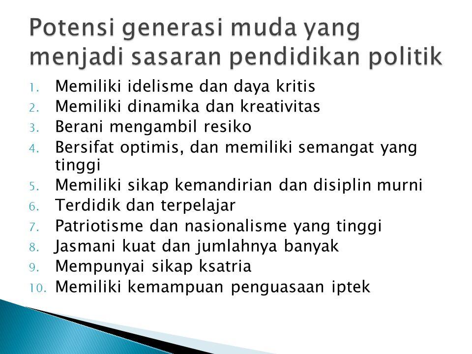 Sosialisasi politik ingin menunjukkan relevansinya dengan sistem politik dan data mengenai orientasi anak-anak terhadap kultur politik orang dewasa, dan pelaksanaannya di masa mendatang mengenai sistem politik
