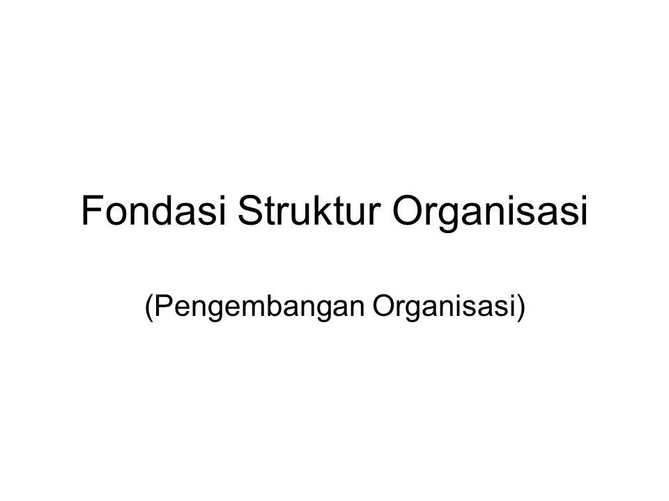 Fondasi Struktur Organisasi (Pengembangan Organisasi)