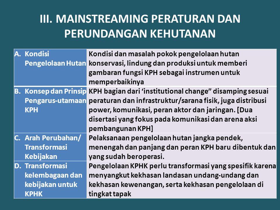 IV.MAINSTREAMING PENGURUSAN HUTAN DI DAERAH (belum dikaji ulang dengan UU 23/2014) A.Tupoksi Prop.