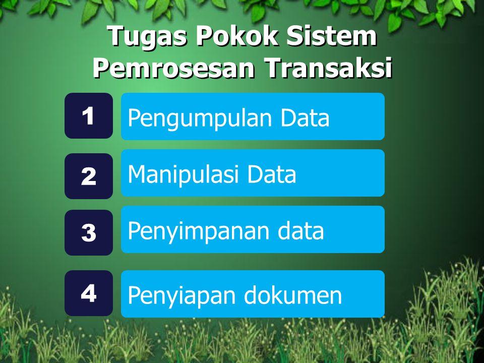 Tugas Pokok Sistem Pemrosesan Transaksi Pengumpulan Data 1 Manipulasi Data 2 Penyimpanan data 3 Penyiapan dokumen 4