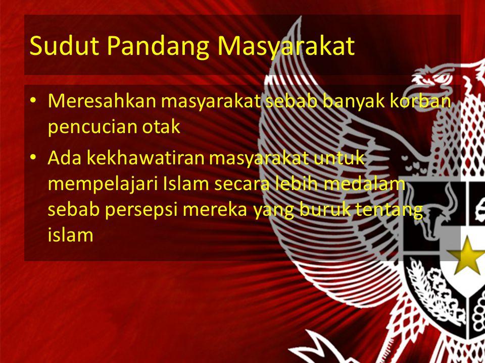 Sudut Pandang NII Karena NII tidak puas dengan Ideologi Pancasila yang dijalankan di Indonesia. Apalagi terjadi berbagai penyimpangan nilai- nilai Pan