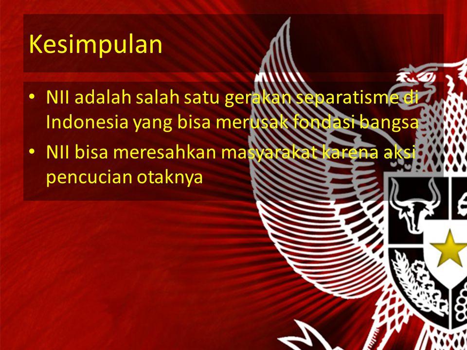 Sudut Pandang Mahasiswa NII merupakan ancaman bagi ideologi Pancasila NII bisa memecah belah Indonesia menjadi 2 kubu