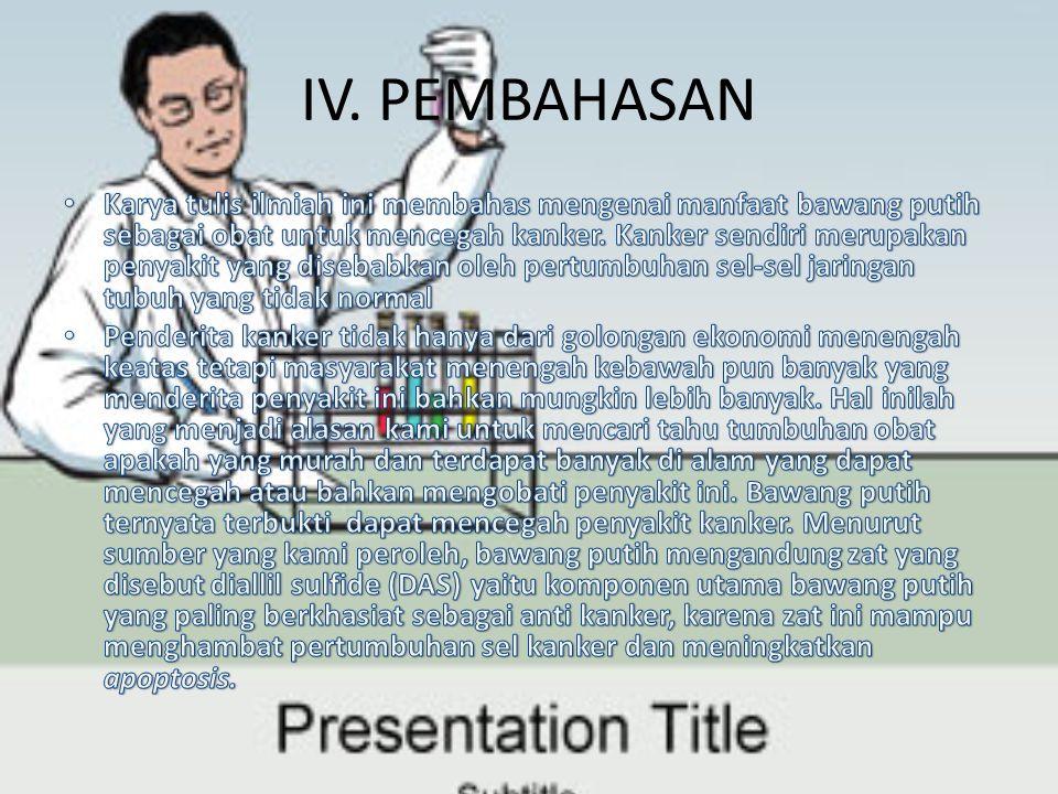 IV. PEMBAHASAN