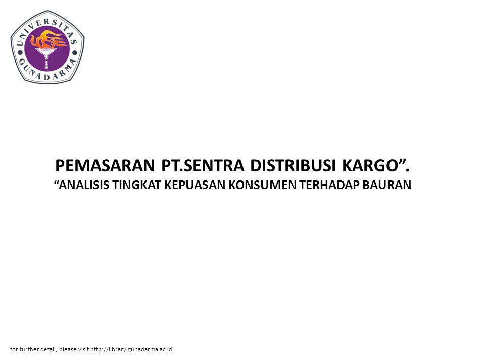 PEMASARAN PT.SENTRA DISTRIBUSI KARGO .