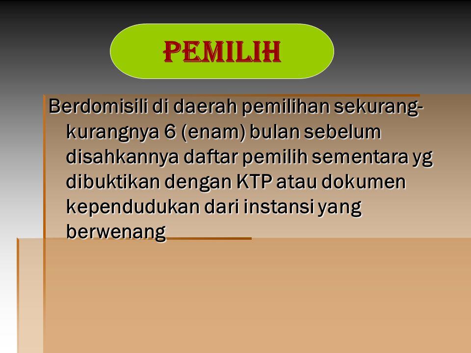 Tahapan Penyusunan Daftar Pemilih   KPU Prov.memb.