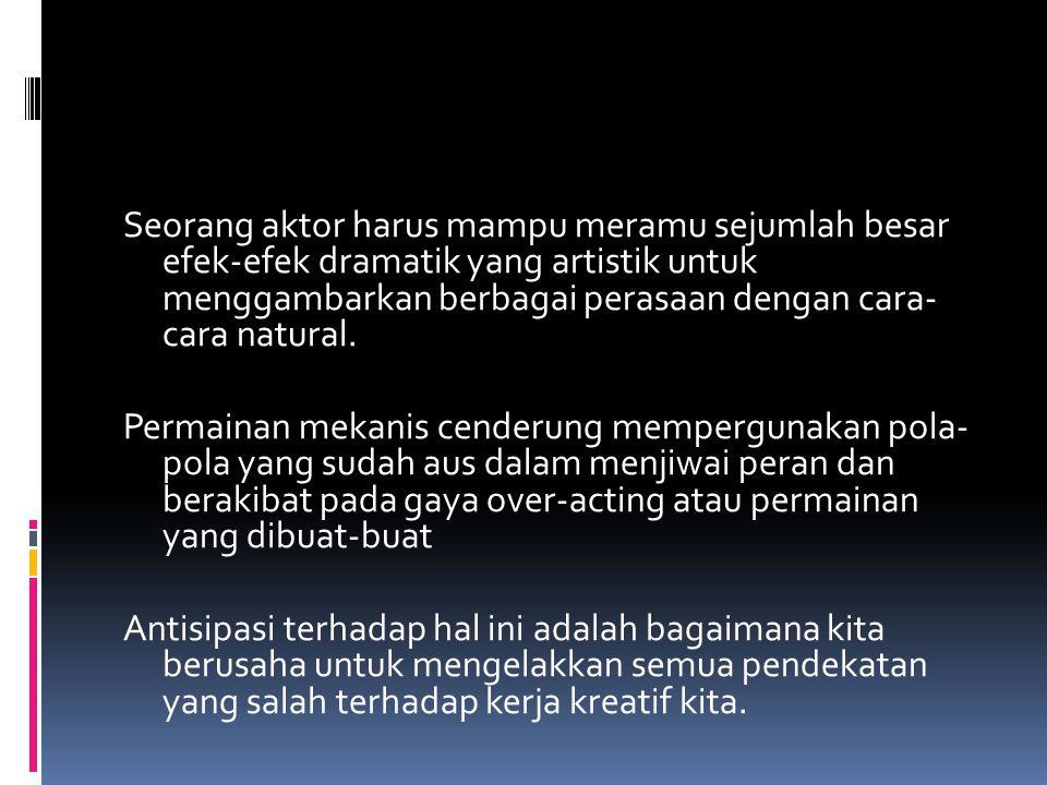 Percayakah kamu, bahwa sesungguhnya kamu adalah aktor yang hebat, natural, mendramatisasi, menjiwai dan manusiawi?????