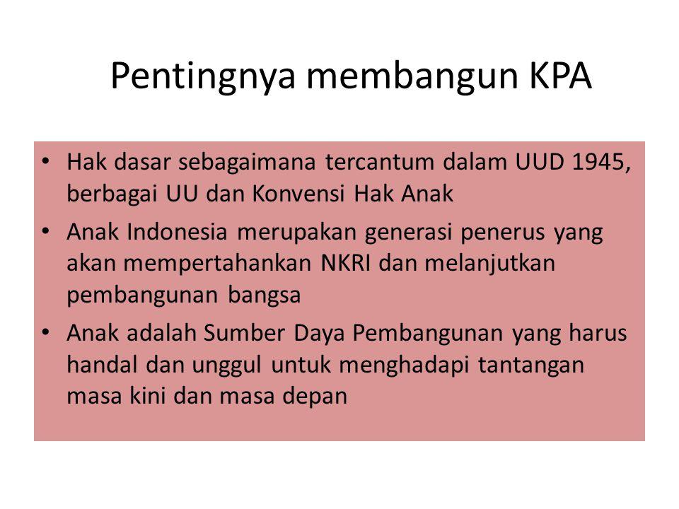 KPA Hak dasar sebagaimana tercantum dalam UUD 1945, berbagai UU dan Konvensi Hak Anak Anak Indonesia merupakan generasi penerus yang akan mempertahank