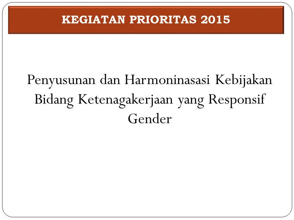 Penyusunan dan Harmoninasasi Kebijakan Bidang Ketenagakerjaan yang Responsif Gender KEGIATAN PRIORITAS 2015