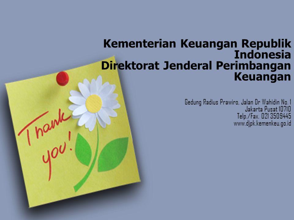 Kementerian Keuangan Republik Indonesia Direktorat Jenderal Perimbangan Keuangan Gedung Radius Prawiro, Jalan Dr Wahidin No.