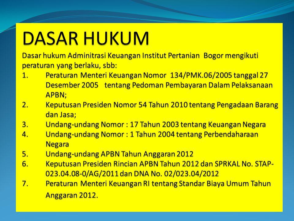 STRUKTUR PENGANGGARAN DIPA IPB Tahun 2012 Satuan Kerja: Institut Pertanian Bogor (189772) Fungsi IPB: Pendidikan (10) Sub Fungsi IPB: Pendidikan Tinggi (10.06) Program: Pendidikan Tinggi (023.04.08) Kegiatan: Pengembangan Penelitian dan Pengabdian Masyarakat (023.04.08.2013)