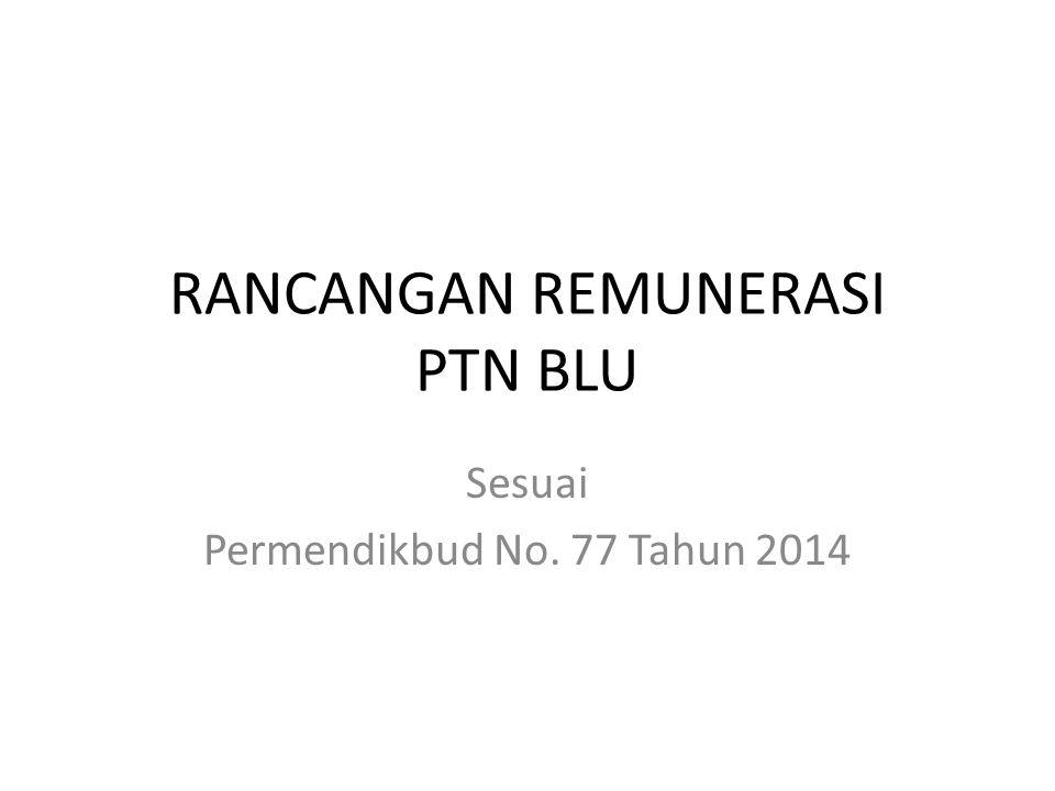 RANCANGAN REMUNERASI PTN BLU Sesuai Permendikbud No. 77 Tahun 2014