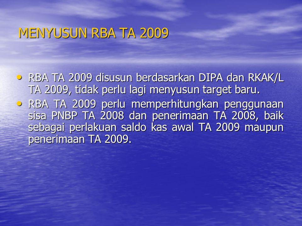 MEREVISI DIPA TA 2009 DIPA TA 2009 segera diajukan ke Kanwil Ditjen Perbendaharaan setempat untuk direvisi baik akun maupun formatnya kedalam DIPA BLU.