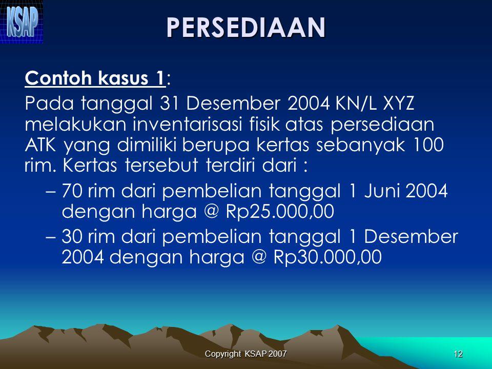 Copyright KSAP 200711  Jurnal untuk mencatat saldo awal: Bagian Lancar TPA XXX Bagian Lancar Pinjaman kpd BUMDXXX Bagian Lancar TP/TGR XXX Piutang Pa