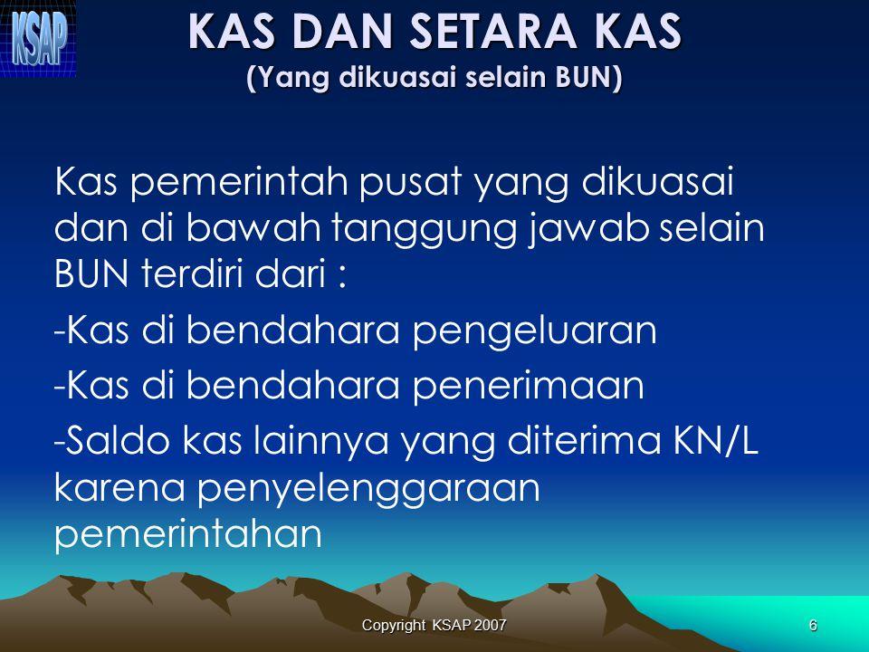 Copyright KSAP 200746 TERIMA KASIH Komite Standar Akuntansi Pemerintahan (KSAP) Gedung Perbendaharaan II, Lt.