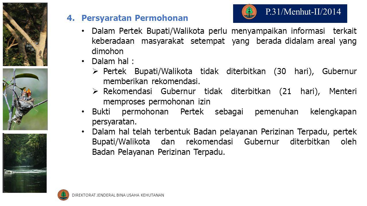 4.Persyaratan Permohonan Dalam Pertek Bupati/Walikota perlu menyampaikan informasi terkait keberadaan masyarakat setempat yang berada didalam areal ya