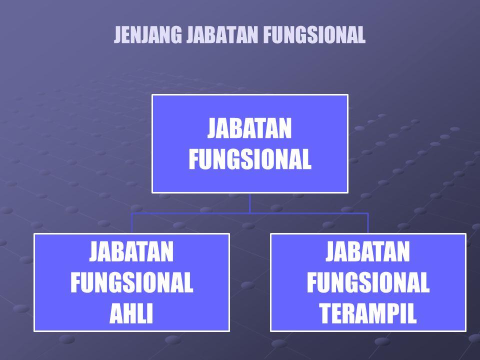 JENJANG JABATAN FUNGSIONAL JABATAN FUNGSIONAL JABATAN FUNGSIONAL AHLI JABATAN FUNGSIONAL TERAMPIL