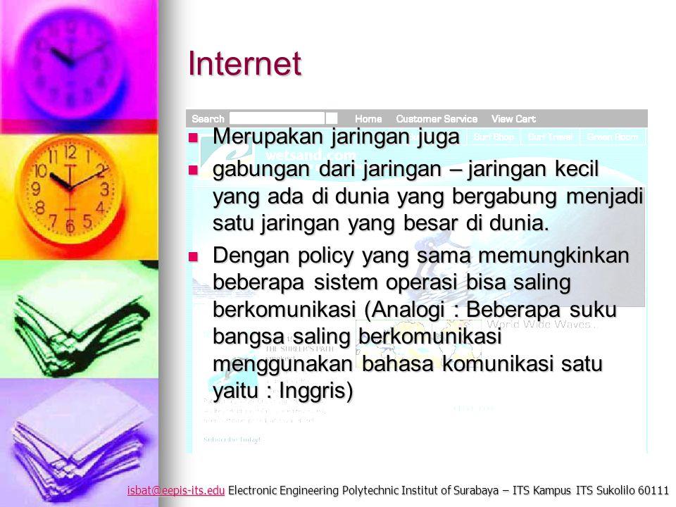 isbat@eepis-its.eduisbat@eepis-its.edu Electronic Engineering Polytechnic Institut of Surabaya – ITS Kampus ITS Sukolilo 60111 isbat@eepis-its.edu Int