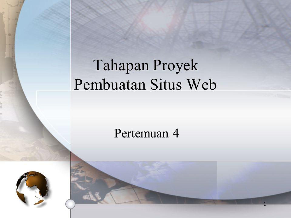 1 Tahapan Proyek Pembuatan Situs Web Pertemuan 4