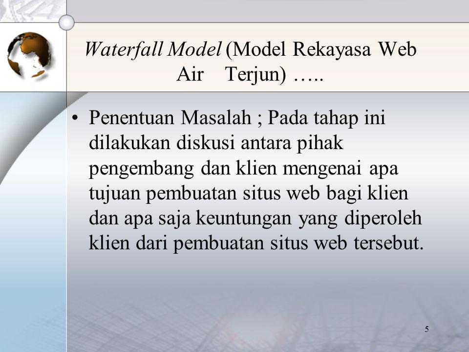 6 Waterfall Model (Model Rekayasa Web Air Terjun) …..
