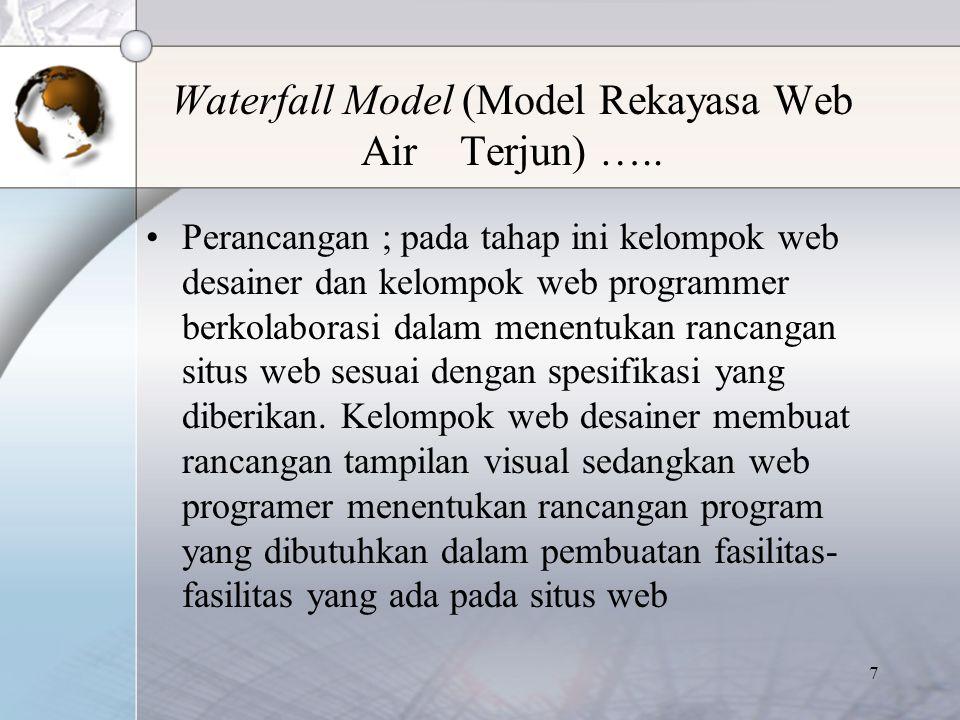 8 Waterfall Model (Model Rekayasa Web Air Terjun) …..