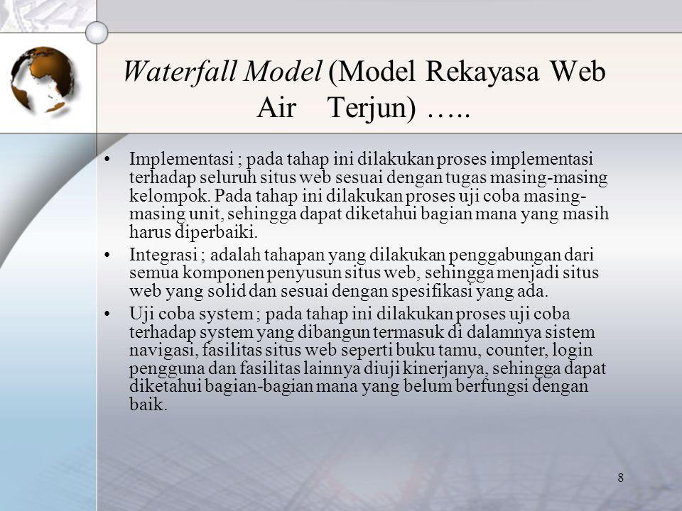 9 Waterfall Model (Model Rekayasa Web Air Terjun) …..