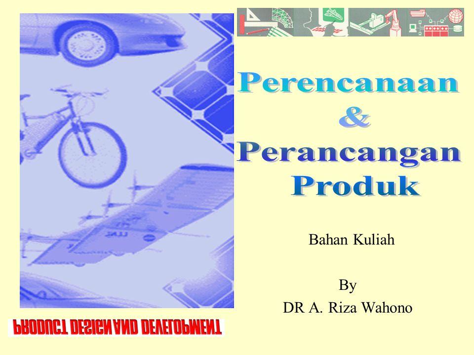 Design Process Bentuk Physcho Chemical Sifat/karakteristik intensif Fungsi Bentuk Geometri Sifat/karakteristik Extensif KebutuhanNilai Mode kondisi penggunaan Product Development Dr A.
