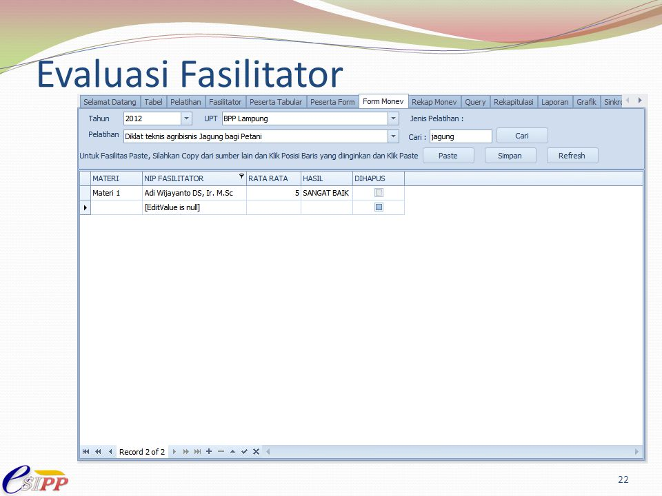 Evaluasi Fasilitator 22