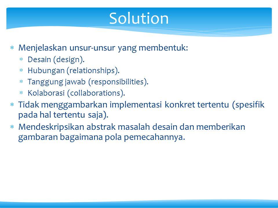  Menjelaskan unsur-unsur yang membentuk:  Desain (design).  Hubungan (relationships).  Tanggung jawab (responsibilities).  Kolaborasi (collaborat