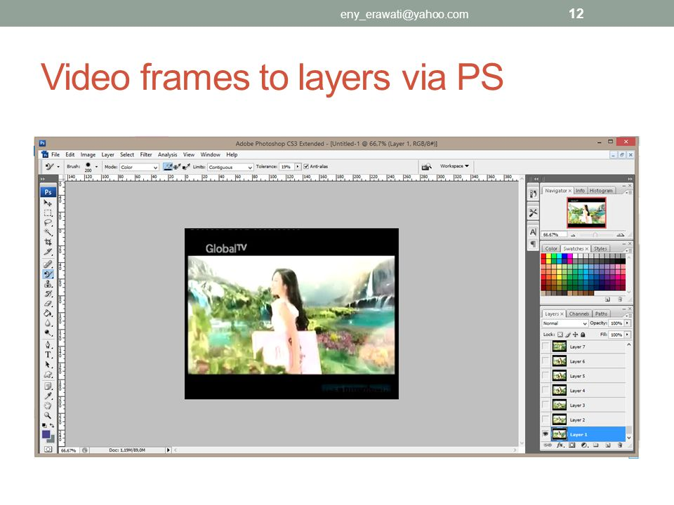 Video frames to layers via PS eny_erawati@yahoo.com 12
