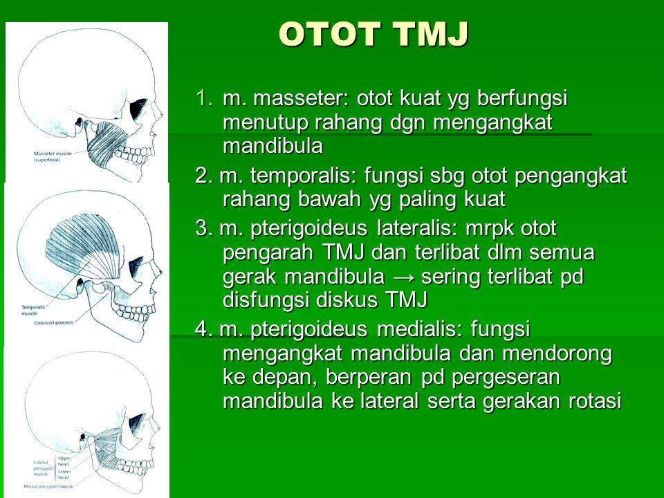 5.m. digastrik: fungsi menarik mandibula ke posterior dan depresi 6.