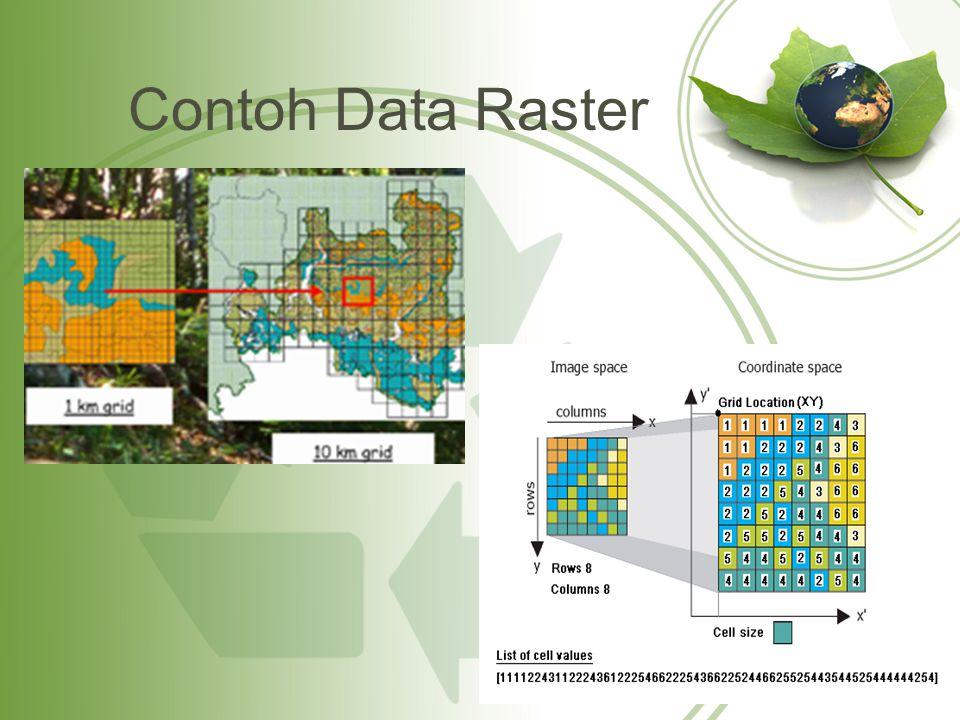Contoh Data Raster